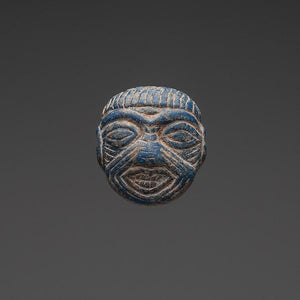 * A Mesopotamian Lapis Lazuli Amulet of Humbaba, ca. 1st millennium BC - Sands of Time Ancient Art