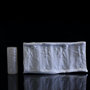 * A Near Eastern Chalcedony Cylinder Seal, Old Babylonian Period, ca. 2000 - 1600 BCE