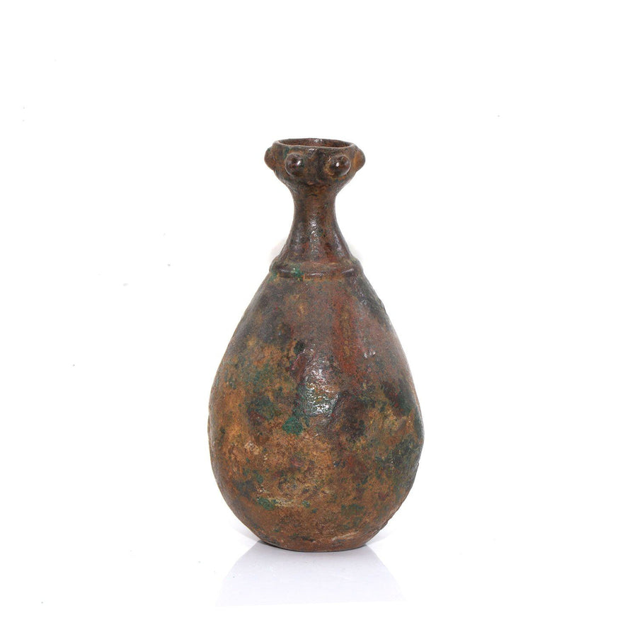 An early Islamic Bronze Oil Bottle, ca. 10th century CE - Sands of Time Ancient Art
