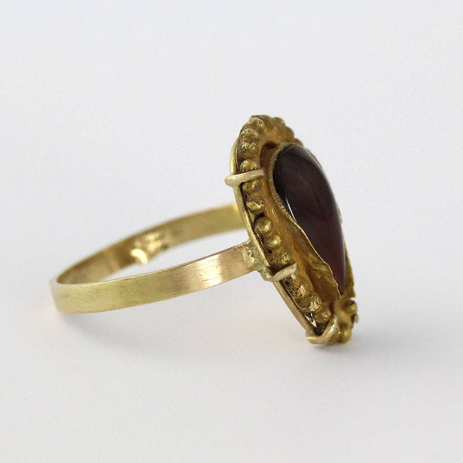 A Hellenistic Gold & Garnet Ring, ca. 2nd - 1st century BC - Sands of Time Ancient Art