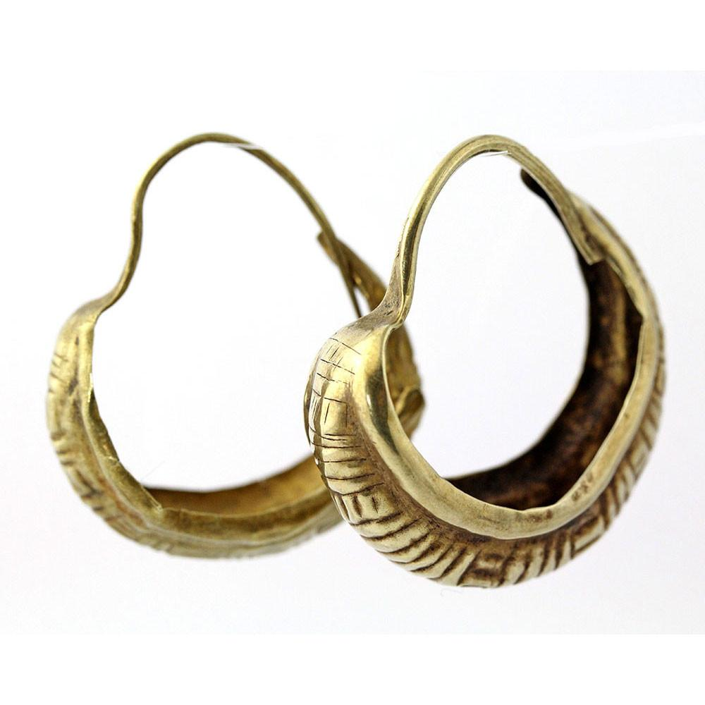 A pair of Mesopotamian Gold Lunate Earrings, Early Dynastic Period, ca.2500 - 2400 B.C. - Sands of Time Ancient Art