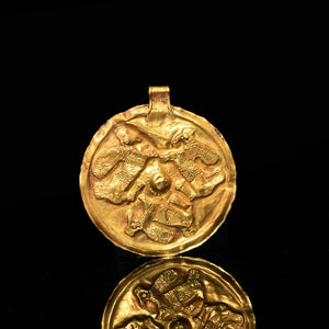 A Western Asiatic Gold Pendant, ca. early 1st millennium BCE