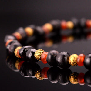 A Near Eastern Garnet and Carnelian Bead Necklace, ca. 1st millennium BCE - Sands of Time Ancient Art