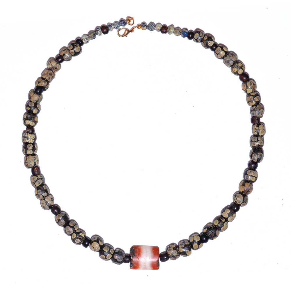 "A good Carthaginian Glass ""Eye"" Bead Necklace, ca. 3rd century BCE - Sands of Time Ancient Art"