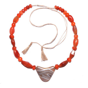 An Achaemenid Carnelian and Banded Agate Bead Necklace, ca. 550 - 332 BC - Sands of Time Ancient Art