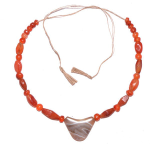 An Achaemenid Carnelian and Banded Agate Bead Necklace, ca. 550 - 332 BCE - Sands of Time Ancient Art