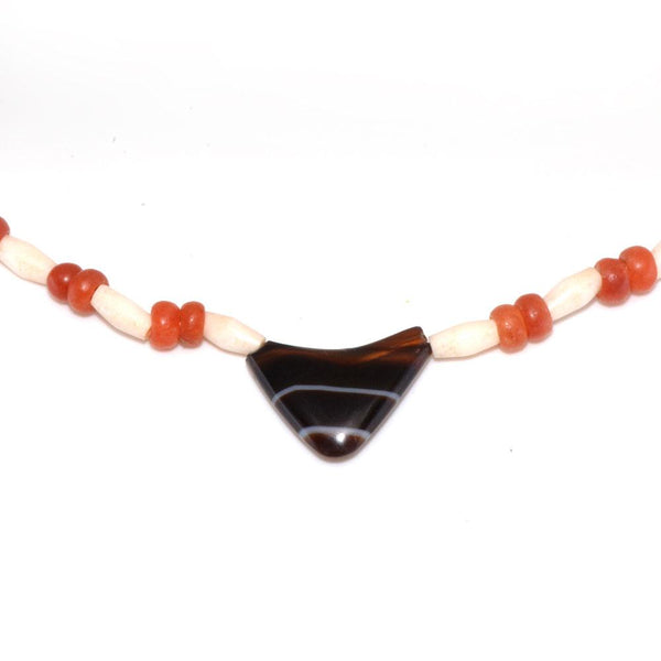 A Bactrian Carnelian & Agate Bead Necklace, ca. 2nd millennium BCE - Sands of Time Ancient Art