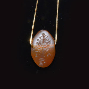 A Near Eastern Carnelian Tree of Life Intaglio, Hellenistic Period, 3rd - 1st century BCE - Sands of Time Ancient Art