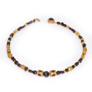 A superb Gold and Garnet Bead Necklace, Achaemenid Period, Persia, ca 550 - 300 BC - Sands of Time Ancient Art