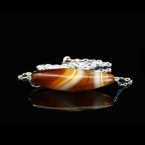 A Western Asiatic Banded Agate Bead Pendant, ca 1st millennium BCE - Sands of Time Ancient Art