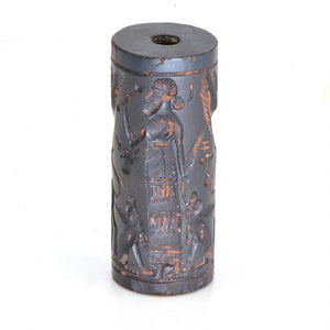 A Published Neo-Assyrian Hematite Cylinder Seal, ca. 8th Century BCE - Sands of Time Ancient Art