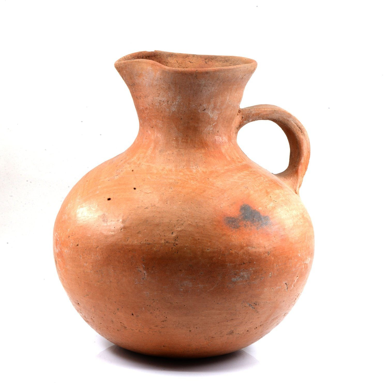 A Persian Terracotta Vessel with Handle, Achaemenid Period, ca. 550 -330 BCE - Sands of Time Ancient Art