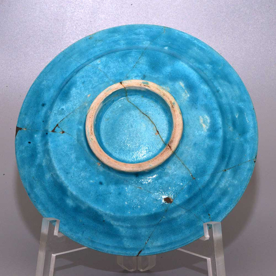 A superb Islamic azure glazed Fish Plate, 12th century AD - Sands of Time Ancient Art