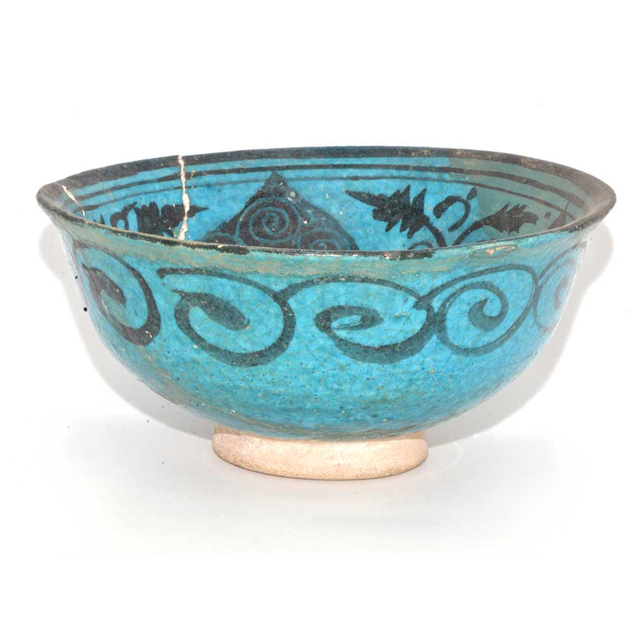 * An Islamic Blue Glazed Bowl, ca. 11th - 12th Century CE - Sands of Time Ancient Art