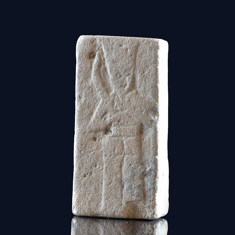 An important Phoenician Inscribed Limestone Plaque, ca. 1200 - 300 BCE - Sands of Time Ancient Art