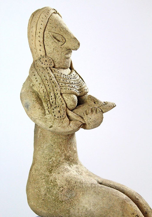 A Mehrgarh terracotta mother & child, Indus Valley Civilization, c. 3000 - 2500 BC, - Sands of Time Ancient Art