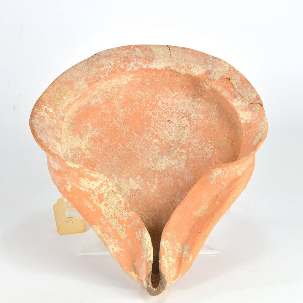 A large terracotta Shell-type Oil Lamp, Persian Period, ca. 500 BCE - Sands of Time Ancient Art