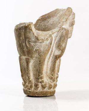 * A Sumerian Limestone Bull Cup, Late Uruk/Jemdet Nasr Period, ca. 3100-2900 B.C. - Sands of Time Ancient Art