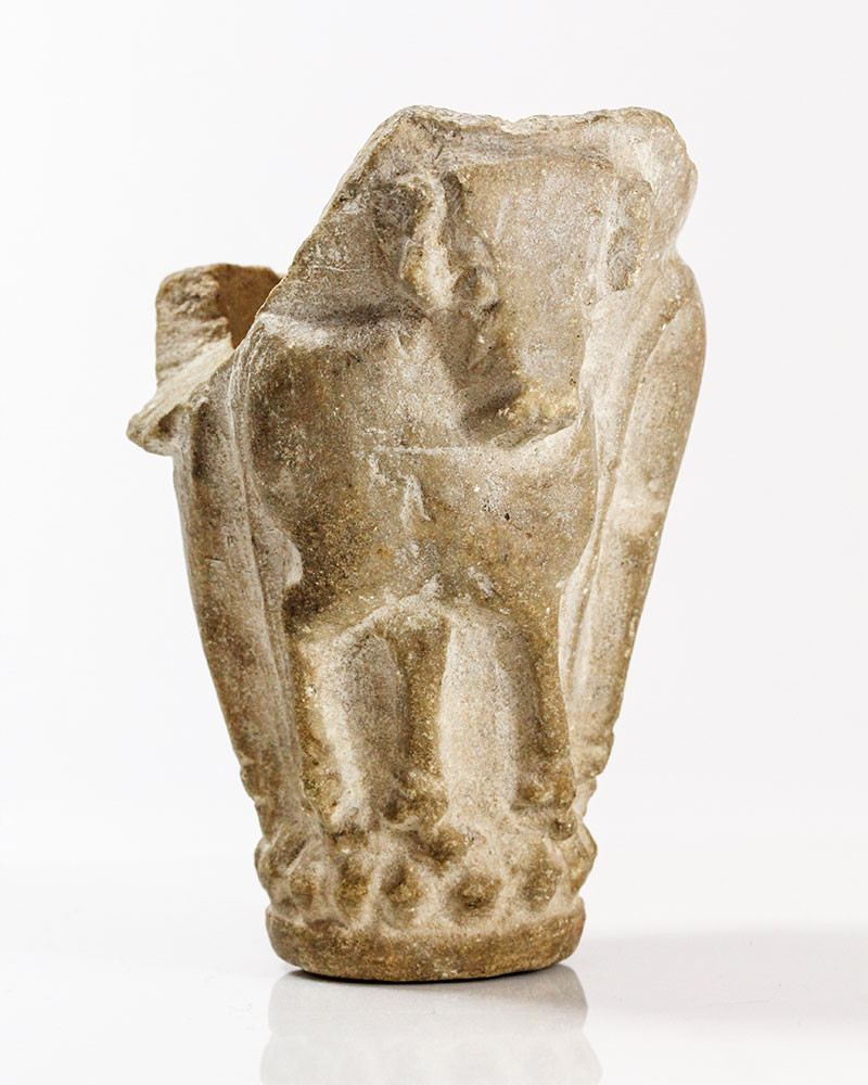 A Sumerian Limestone Bull Cup, Late Uruk/Jemdet Nasr Period, ca. 3100-2900 BCE - Sands of Time Ancient Art