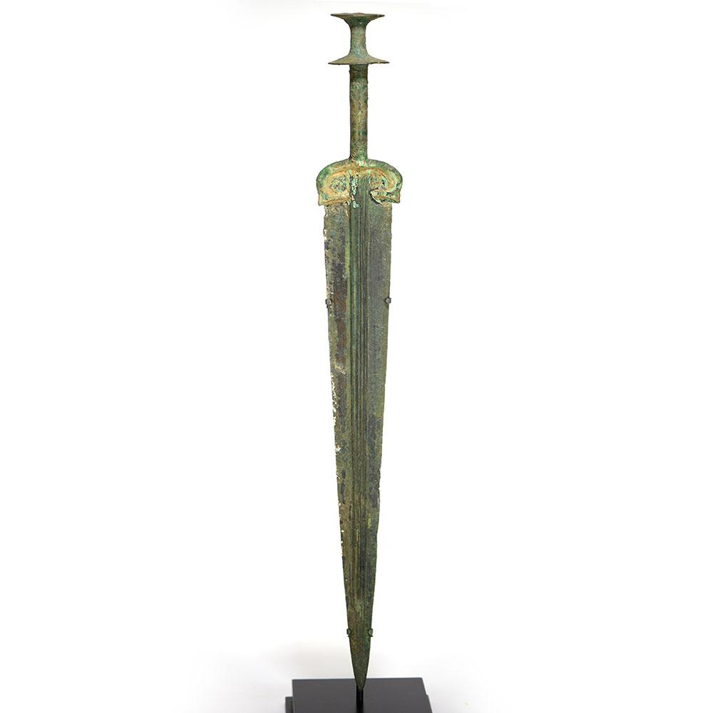 A Near Eastern Bronze Double Disk Pommel Sword, ca. 1200 - 800 BCE - Sands of Time Ancient Art