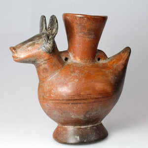 An Animal effigy vessel in the form of an Alpaca, Lambayeque, Peru, c. 750 - 1375 AD - Sands of Time Ancient Art