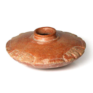 A Chorrera Orangeware Saucer form Olla, ca. 9th - 4th century BCE - Sands of Time Ancient Art