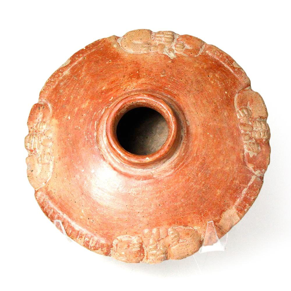 * A Chorrera Orangeware Saucer form Olla, ca. 9th - 4th century BCE - Sands of Time Ancient Art