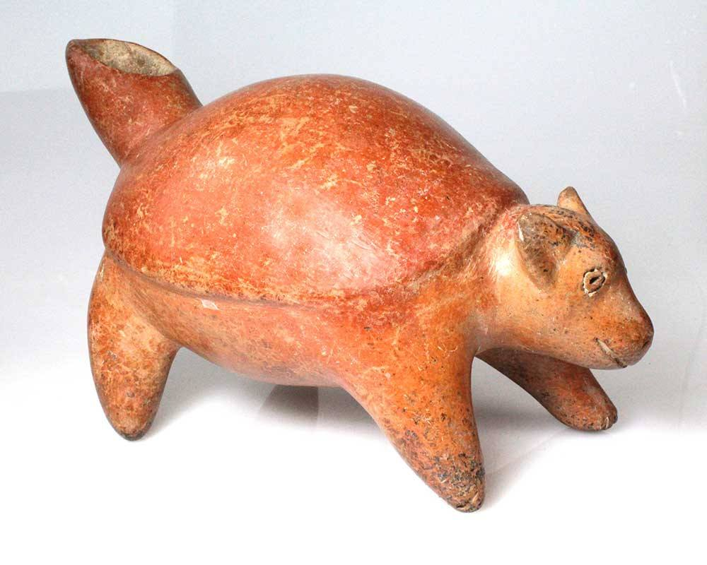 An Effigy Vessel in the form of an Turtle/Dog, Colima, ca 100 BC - 250 AD - Sands of Time Ancient Art