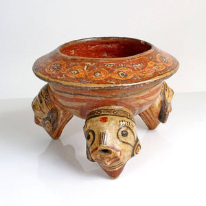 A Polychrome Rattle Bowl, Greater Nicoya, Costa Rica, ca. 500 - 1000 AD - Sands of Time Ancient Art