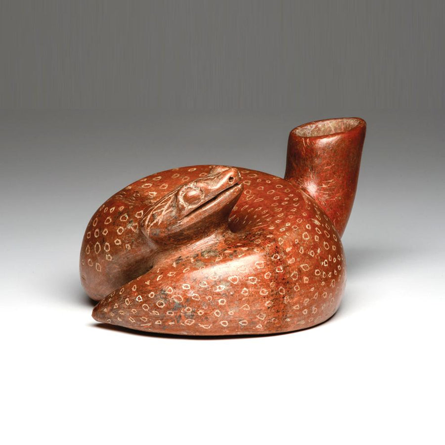 A Colima Redware Snake Vessel, Protoclassic Period, ca. 100 BCE - 250 CE - Sands of Time Ancient Art