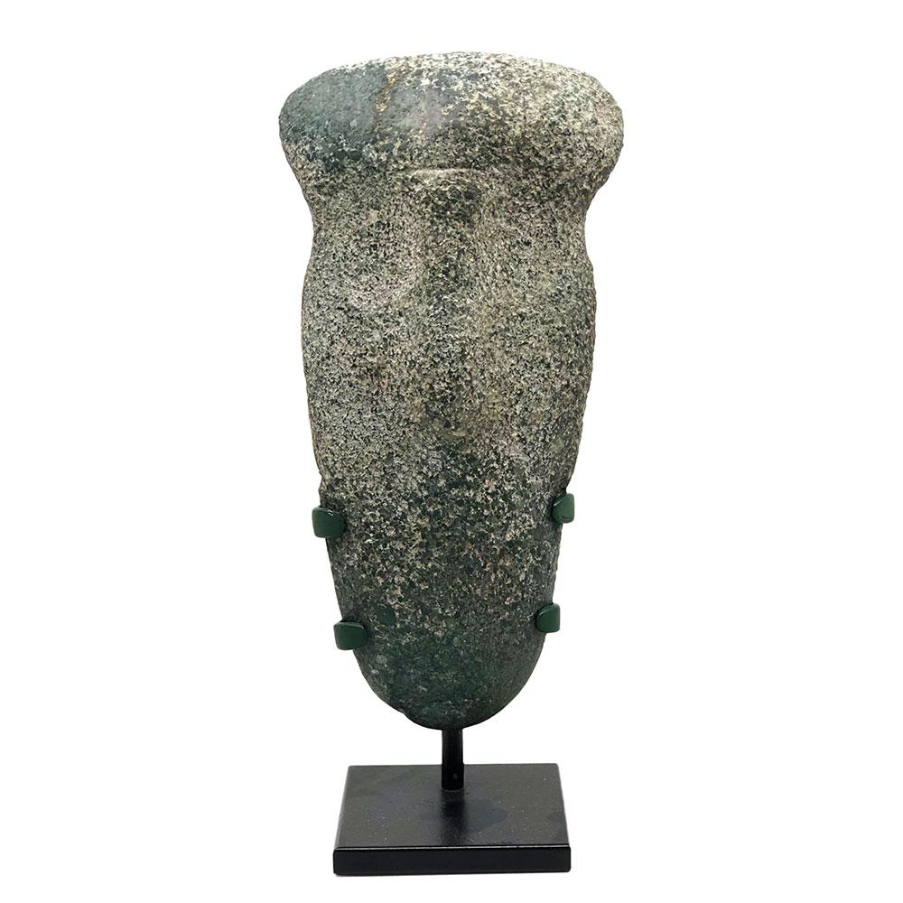A Mezcala Greenstone Head, ca. 800 - 200 BCE - Sands of Time Ancient Art