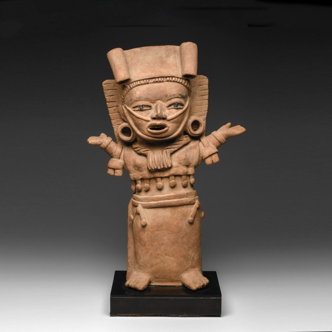 *  A Veracruz Standing Ceremonial Female Figure, Remojadas, Early Classic, ca. 250-450 CE
