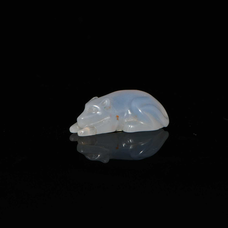 A Roman Chalcedony Dog, Roman Imperial Period, ca. 1st Century CE - Sands of Time Ancient Art