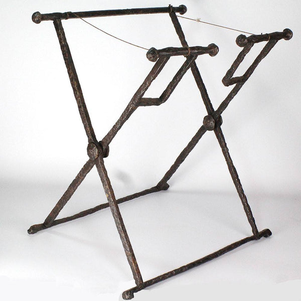 A Roman Iron Campaign Folding Stool (Stella Castrensis), Roman Imperial, ca. 1st century AD - Sands of Time Ancient Art