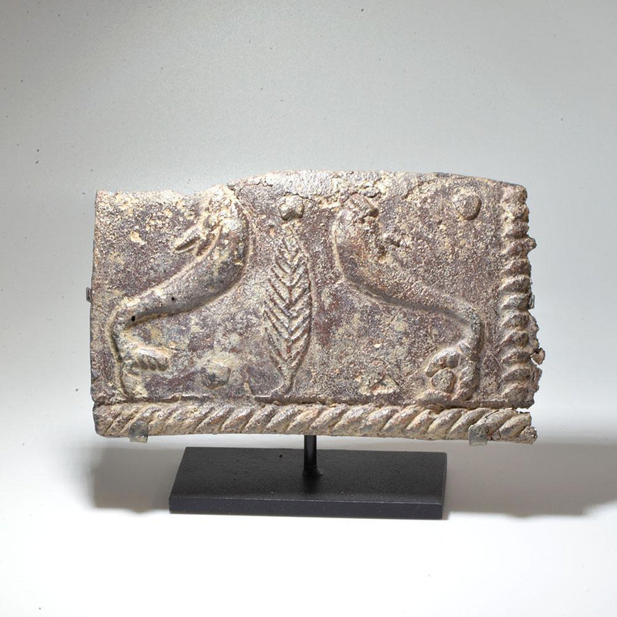 * A Roman Lead Sarcophagus Panel Fragment, ca. 1st - 2nd century AD - Sands of Time Ancient Art