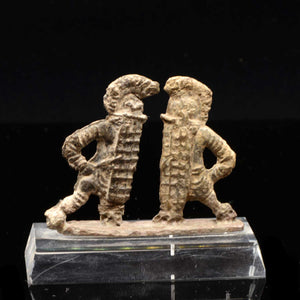 A pair of Roman bronze Fighting Gladiators, Roman Imperial Period, ca. 1st - 3rd Century AD - Sands of Time Ancient Art