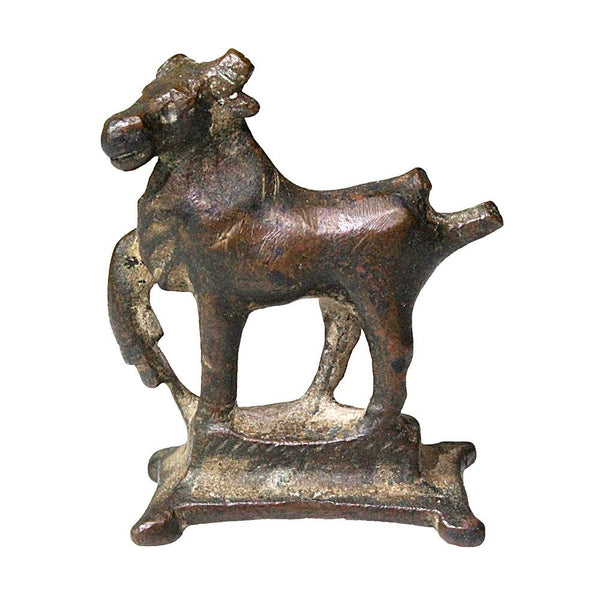 A Roman bronze figurine of a bull, ca. 1st century CE - Sands of Time Ancient Art