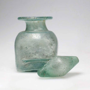 A Roman Glass bottle with Stopper, ca. 2nd century A.D. - Sands of Time Ancient Art