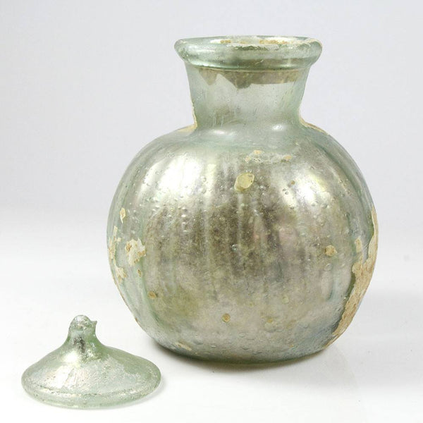 A Roman Glass Bottle with Lid, late 1st to early 2nd century A.D. - Sands of Time Ancient Art