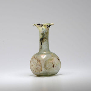 A Roman Glass Bottle, Roman Imperial, 1st century CE - Sands of Time Ancient Art