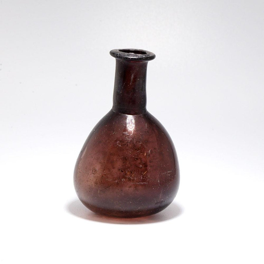 A Roman Aubergine Glass Bottle, 1st-2nd Century AD - Sands of Time Ancient Art