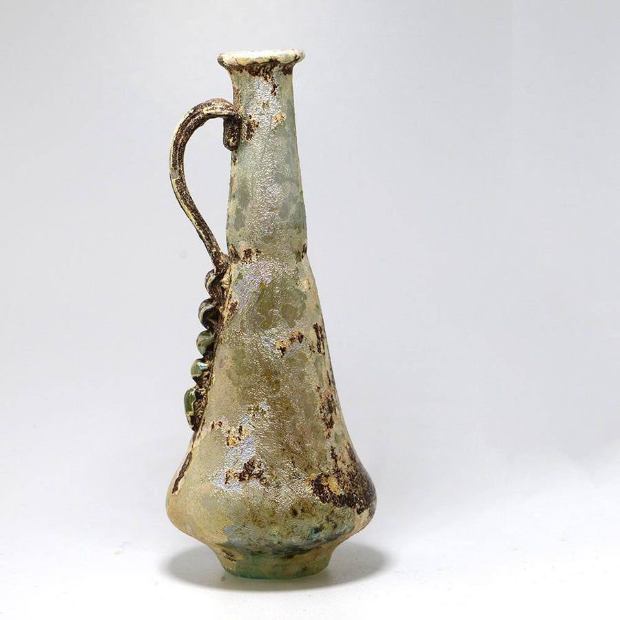* A Roman Glass Ewer, Roman Imperial, 1st century AD - Sands of Time Ancient Art