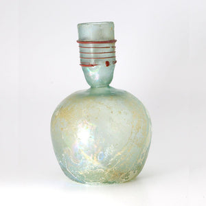 A Roman Green Glass Sprinkler Bottle, 4th Century CE - Sands of Time Ancient Art