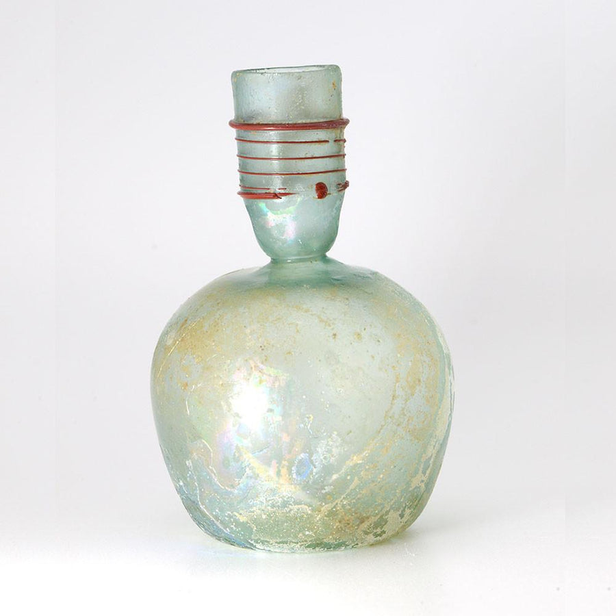 A Roman Green Glass Sprinkler Bottle, 4th Century AD - Sands of Time Ancient Art