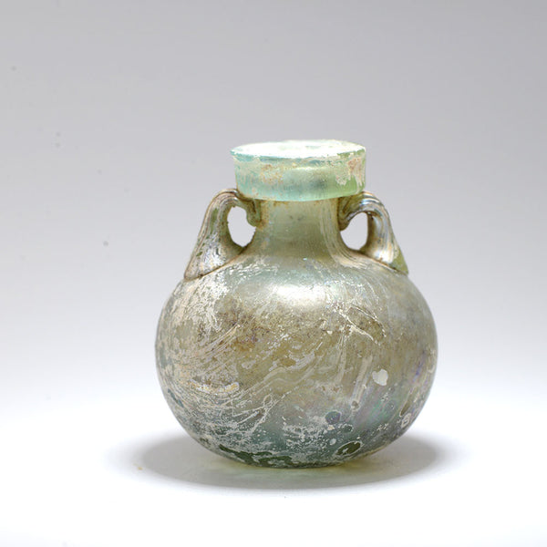A Roman Blue Glass Aryballos, Roman Imperial, 1st Century AD - Sands of Time Ancient Art