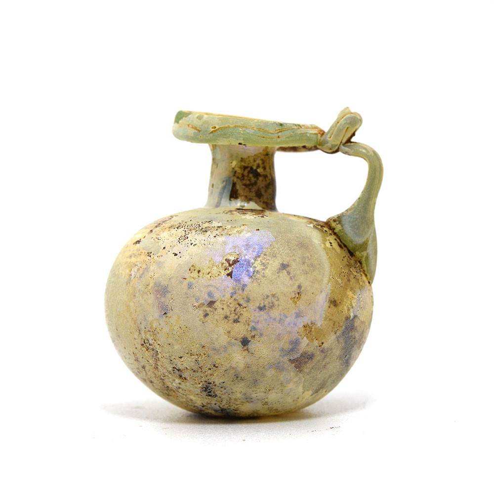 A Roman glass Aryballos, Roman Imperial, 1st century CE - Sands of Time Ancient Art