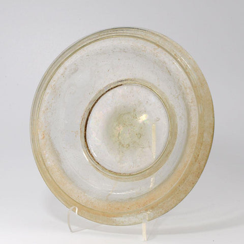 A Roman Glass Plate, Roman Imperial, 1st Century AD - Sands of Time Ancient Art
