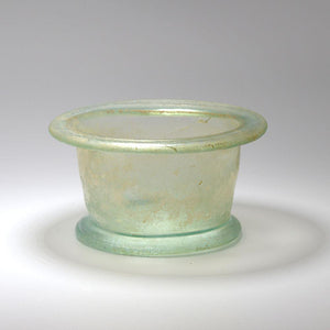 A Roman Green Glass footed Bowl, Roman Imperial, 1st Century AD - Sands of Time Ancient Art