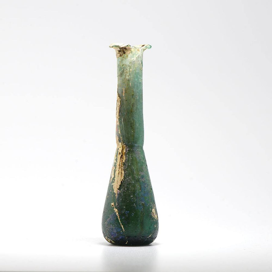 A Roman Green Glass Tear Vial, Roman Imperial, 1st century AD - Sands of Time Ancient Art