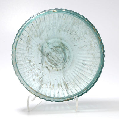 * A Roman Glass Ribbed Shallow Bowl, Roman Imperial, 1st Century BC-1st Century AD - Sands of Time Ancient Art